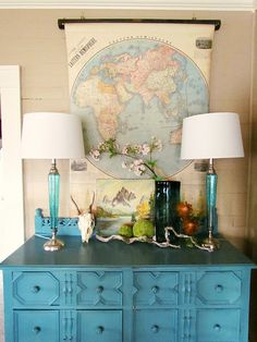 Decorate with old maps