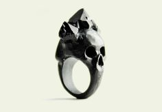 Black Bifacial Skull