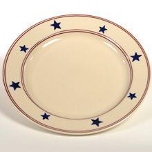 Stars and Stripes Dinnerware, Hartstone Pottery (Ohio)