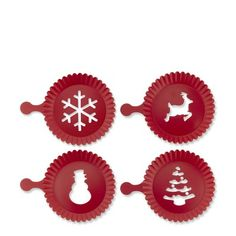 Holiday Cupcake Stencils, Set of 4 #WilliamsSonoma