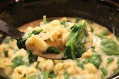 Creamy Tortellini Crock Pot Soup   366 Days of Pinterest