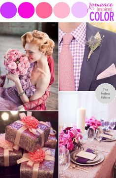 Radiant Orchid & shades of pink