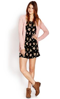 Cardigan and floral print #OOTD #Spring #MustHave
