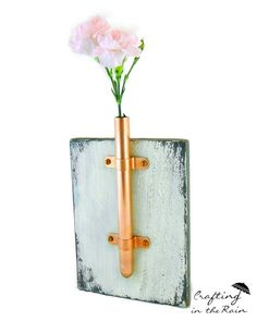 Copper Pipe Vase submitted to InspirationDIY.com