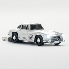 Who knew future USB thumb drives could look like this? Name: Click Car Click Car Mercedes-Benz 300 SL 4GB USB Stick In Silver - Beyond the Rack