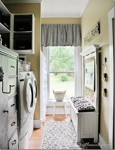 Get the Look:  Farmhouse Laundry Room...Fun Inspiration!