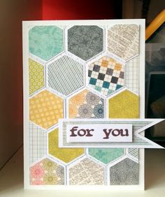 card using the Stampin' Up! Hexagon punch!