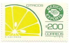 Mexican Exports postage stamps from the 1970s and 1980s