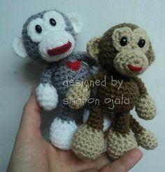Little Bigfoot Monkey free crochet pattern by Amigurumi To Go (sharon ojala)