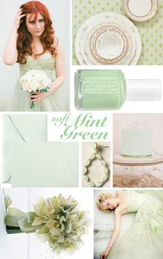 mint, gold, ivory, blush