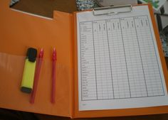 Homework checking made easy.  I keep mine on a clipboard.  This is great.  I'm going to set this up for next years' class... I am the worst at checking homework!