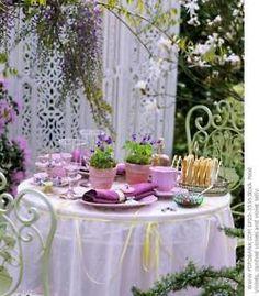 outside tea party