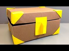Origami Treasure Box full of Origami Coins - YouTube