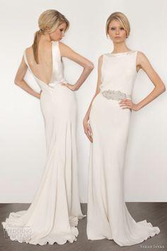 sarah janks bridal 2013 couture cassandra sheath wedding dress