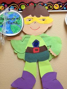 super hero school ideas, creative writing, superhero school ideas, super hero crafts for kids, earth day, super heroes school, super hero activities for kids, paper crafts, second grade