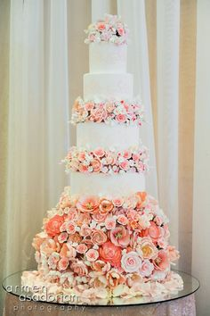 Tic Tock Couture Florals - cake wedding, spring weddings, bridal photos, flower cakes, pink weddings, wedding cakes, themed weddings, white cakes, sugar flowers