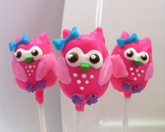 idea, food, 1st birthday, cake pops, cakepop, owl cakes, pink owl, owls, parti