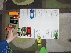Numbers parking lot game