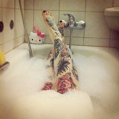 tattoos Legs inked tattoo ink tattooed bath body art inked skin