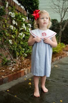 Adorable Vintage Float Dress by Crescent Moon Children.