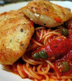 Chicken in Tomato Caper Sauce