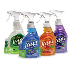 Enter for a chance to win a variety of eco-friendly household JAWS cleaning products!  (Approx. retail value: $20.76); JawsCleans.com