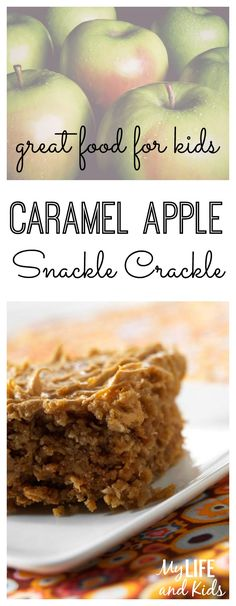 This amazing caramel apple snackle crackle dessert recipe is like candy, cake and a cookie all rolled into one. And - because there's no oven involved - it's a great way to get your kids involved in the kitchen! YUM!