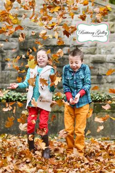 Leaves Fall Family Pictures | Brittany Gidley Photography LLC  Fall Leaves Photography | Brittany Gidley Photography LLC