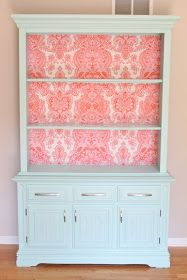 The Fabric Hutch: Furniture Redo. I would use a different fabric...cute idea