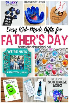 Show Dad some love this Father's Day with one of these simple Fathers Day crafts! Each one will make great preschool Father's Day gifts!