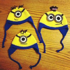 Despicable Me Minion Crochet Hats