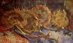 Still life with four sunflowers, 1887  Vincent Van Gough
