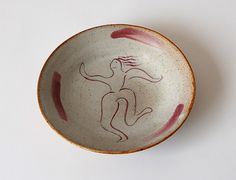 Stoneware Pottery Plate with Red Luster & Nuka by MadAboutPottery, $20.00