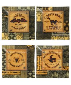 Take a look at this Halloween Glass Plates Set by Park Designs on #zulily today!
