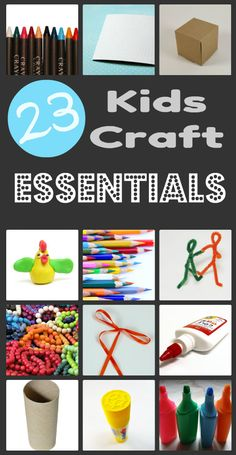 23 Kids Craft Essentials – Everything you need to create endless crafts with your kids! #kids #crafts #supplies #crayons