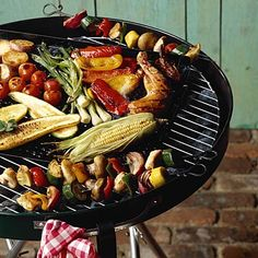 grilled veggies, weight, food, barbecu, asparagus