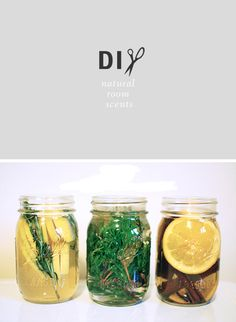 DIY natural room scents cinnamon orange clove pine bay leaf nutmeg lemon  rosemary vanilla