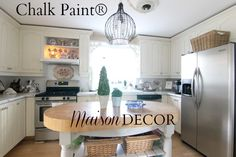 Maison Decor: Painting Kitchen Cabinets with Chalk Paint® by Annie Sloan
