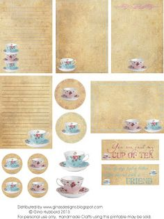 Freebie Friday - Time For Tea Heres a freebie that works great for Cards, ATCs or layouts.  Grab your copy and if you use the freebie