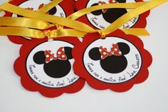 Mickey and Minnie Mouse Favor tags.