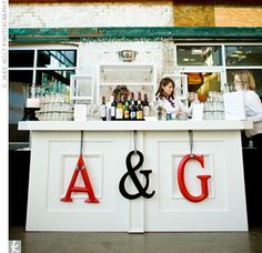 letters on the bar