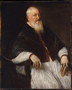 Filippo Archinto (born about 1500, died 1558), Archbishop of Milan  Titian (Tiziano Vecellio) (Italian, Pieve di Cadore ca. 1485/90?–1576 Venice)  Date: mid-1550s Medium: Oil on canvas
