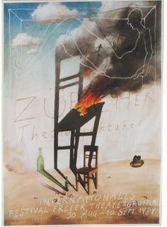 Poster for international experimental theater festival, 1989