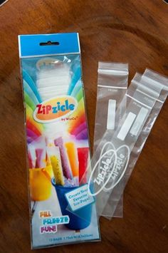 Zipzicles! Make your own portable popsicles. How fun. .
