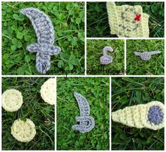 MandaLynn's Crochet Treasures : Crochet Pirate Applique Set ... swords, hooks, spy...