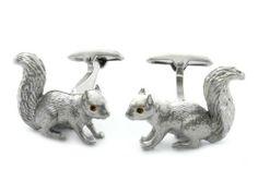 Squirrel Cufflinks by Cuff-Daddy Cuff-Daddy. $39.99. Arrives in hard-sided, presentation box suitable for gifting.. Made by SAFARI