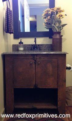 Bathroom Vanity www.redfoxprimitives.com