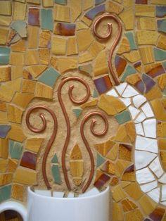 Coffe or Tea 23 1/4 x 18 1/4 Mosaic Wall Art by KelliInColor