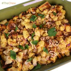 Michael Symon's Basic Stuffing for Christmas or Thanksgiving. #TheChew
