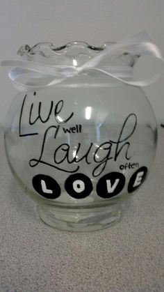 Live, Laugh, Love jar